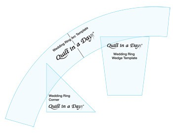 Eleanor Burns Wedding Ring Template Set By Quilt In A Day