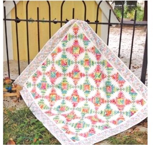 Eleanor Burns Cut Loose Press South Beach Pineapple Treats Quilt