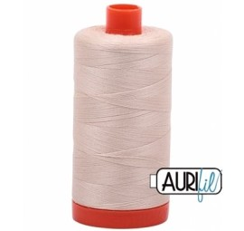 Aurifil Light Beige 50 wt Cotton 1422 yd