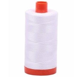 Aurifil White 50 wt Cotton 1422 yd