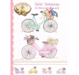 Girls Getaway #4 Bicycles & Lace by Crabapple Hill Studio