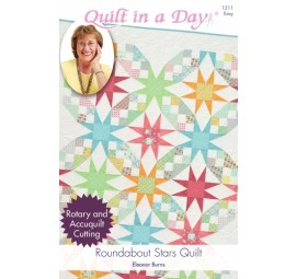 Roundabout Stars Quilt: Eleanor Burns Signature Quilt Pattern
