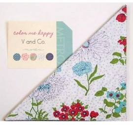 Color Me Happy Slice 10 inch Triangles by V and Co - Moda Precuts
