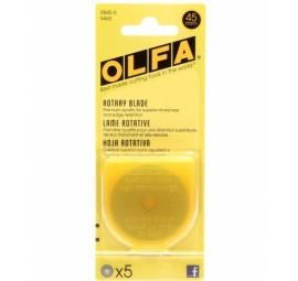 Olfa 45mm Rotary Blades, Set of 5
