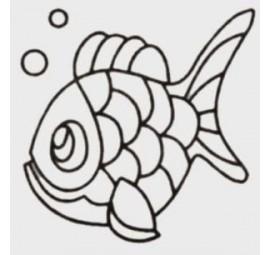 Quilt Stencil Charlie The Fish  HS169QC