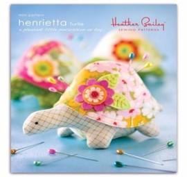 Heather Bailey Sewing Patterns: Henrietta Turtle  Pincushion Pattern