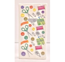 Clearance - Sewing Notions Themed Pocket Tissue