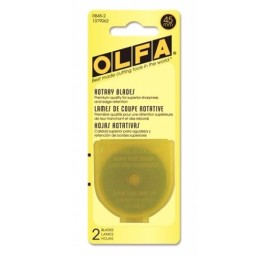 Olfa 45mm Replacement Rotary Blade 2 pack