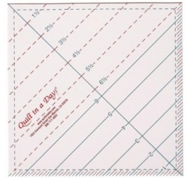 6 1/2  Triangle Square Up Ruler by Quilt in a Day