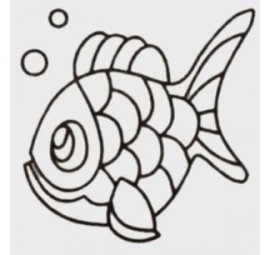 Quilt Stencil Charlie The Fish  HS169QC