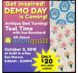 Demo Day-Saturday, October 3  9:30 am - 2:00 pm