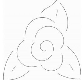 Flower Stencil 3.5 inch Stencil  94QC