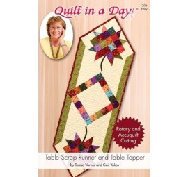 Table Scrap Runner and Table Topper: Eleanor Burns Signature Quilt Pattern