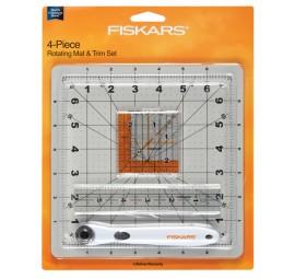 Fiskars 4 Piece Rotating Mat & Trim Set