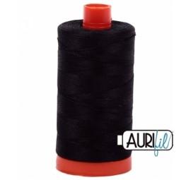 Aurifil Black 50 wt Cotton 1422 yd