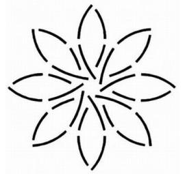 Pinwheel 5 inch Stencil  HH29
