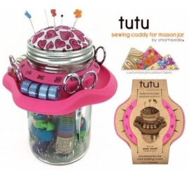 Tutu Pink Mason Jar Sewing Caddy by SmartNeedle