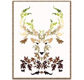 The Stag Laser Cut Fabric Kit - Earth
