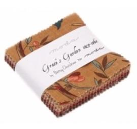 Graces Garden 1820-1860 Mini Charm Pack - Moda Precuts