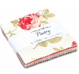 Poetry Prints 3.5 inchTreat by 3 Sisters Moda Precuts