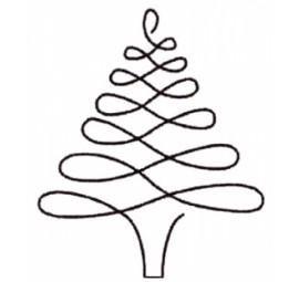 Christmas Tree 4 inch Stencil  895QC