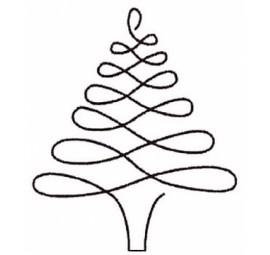 Christmas Tree Stencil 896QC