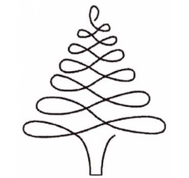 Christmas Tree Stencil 896QC