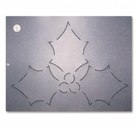 Holly Leaves & Berries 8.5 inch Stencil