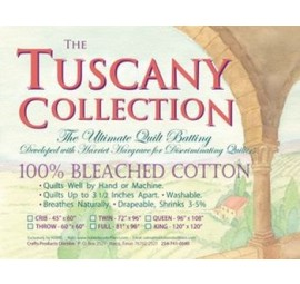 Hobbs -Tuscany, 100% Bleached Cotton Quilt Batting QUEEN
