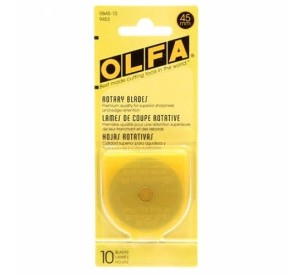 Olfa 45mm Replacement Rotary Blade 10 pack