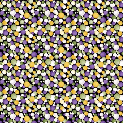 BENARTEX - Lilyanne - Watercolor Circles Purp/Yellow