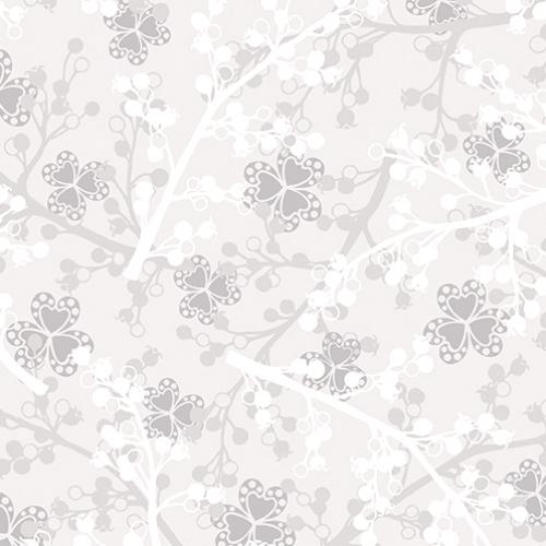 BENARTEX - Jubilee Silver - Berries Light Gray