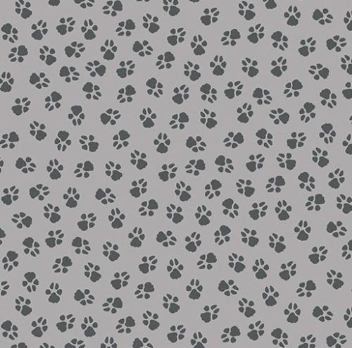 BENARTEX - Dog On It - Paw Prints - Medium Grey