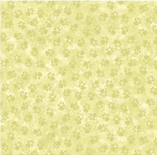 BENARTEX - Dog On It - Paw Prints - Light Green