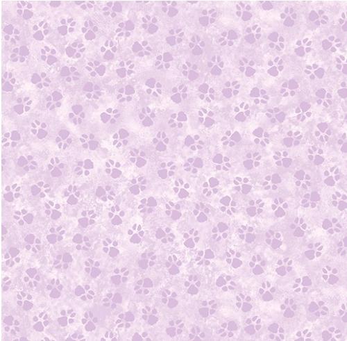 BENARTEX - Dog On It - Paw Prints - Light Purple