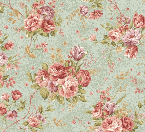 BENARTEX - Zelie Ann - Grandview - Erma's Bouquet Sage