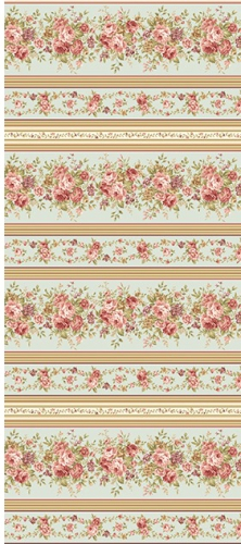 BENARTEX - Zelie Ann - Grandview - Border Stripe Sage