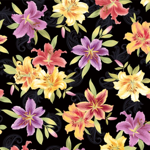BENARTEX - Lilyanne - Big Lily Allover Black/Multi