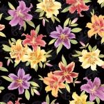 BENARTEX - Lilyanne - Big Lily Allover Black/Multi