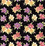 BENARTEX - Lilyanne - Small Lily Allover Black/Multi