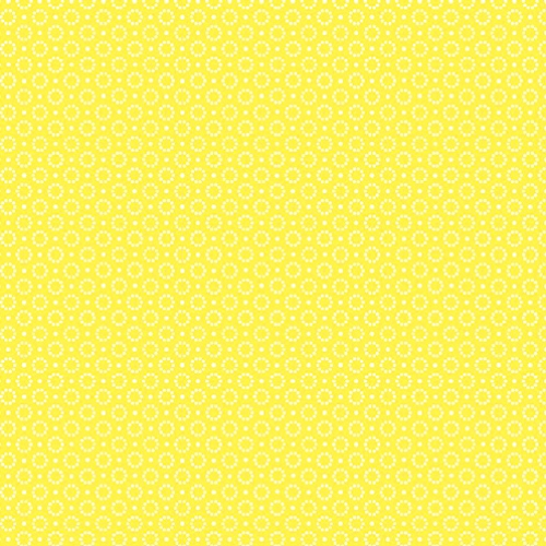 BENARTEX - Somerset - Dotted Circle Yellow