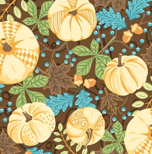 CONTEMPO - Thankful - Pumpkins Brown - #2275-