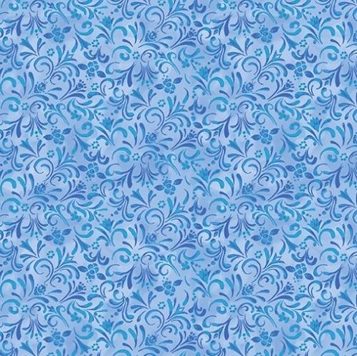 BENARTEX - Awaken The Day - Painterly Swirl Blue
