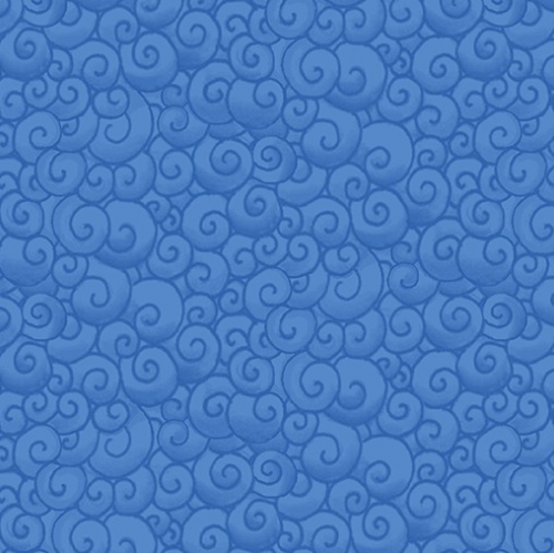 BENARTEX - Awaken The Day - Swirls Royal Blue