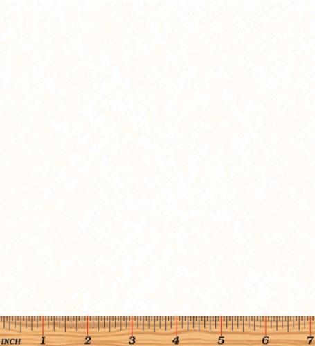 BENARTEX - Better Basics - Zig Zag Texture - White on White - W132-
