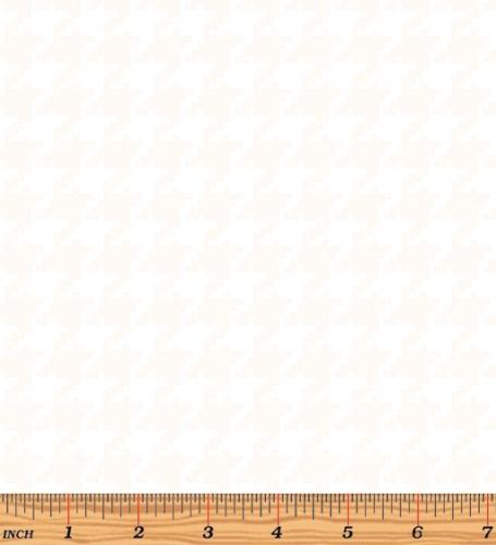 BENARTEX - Better Basics - Large Houndstooth - White on White - W131-