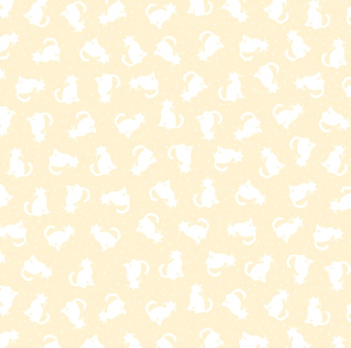 BENARTEX - Better Basics - Tonal Cats - White/Ecru - C92-