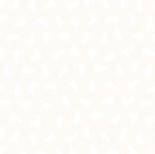 BENARTEX - Better Basics - Tonal Cats - White/White - W138-