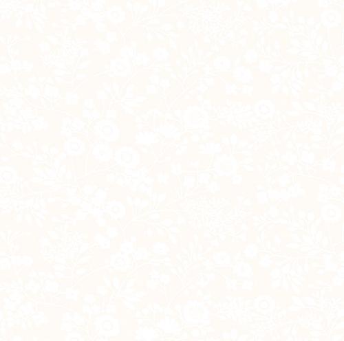 BENARTEX - Better Basics - Floral Garden - White/White - W136-