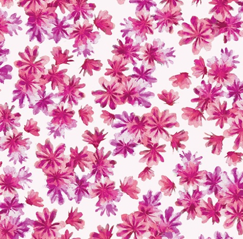 KANVAS STUDIO - Blooming Beauty - Breezy Blooms - White